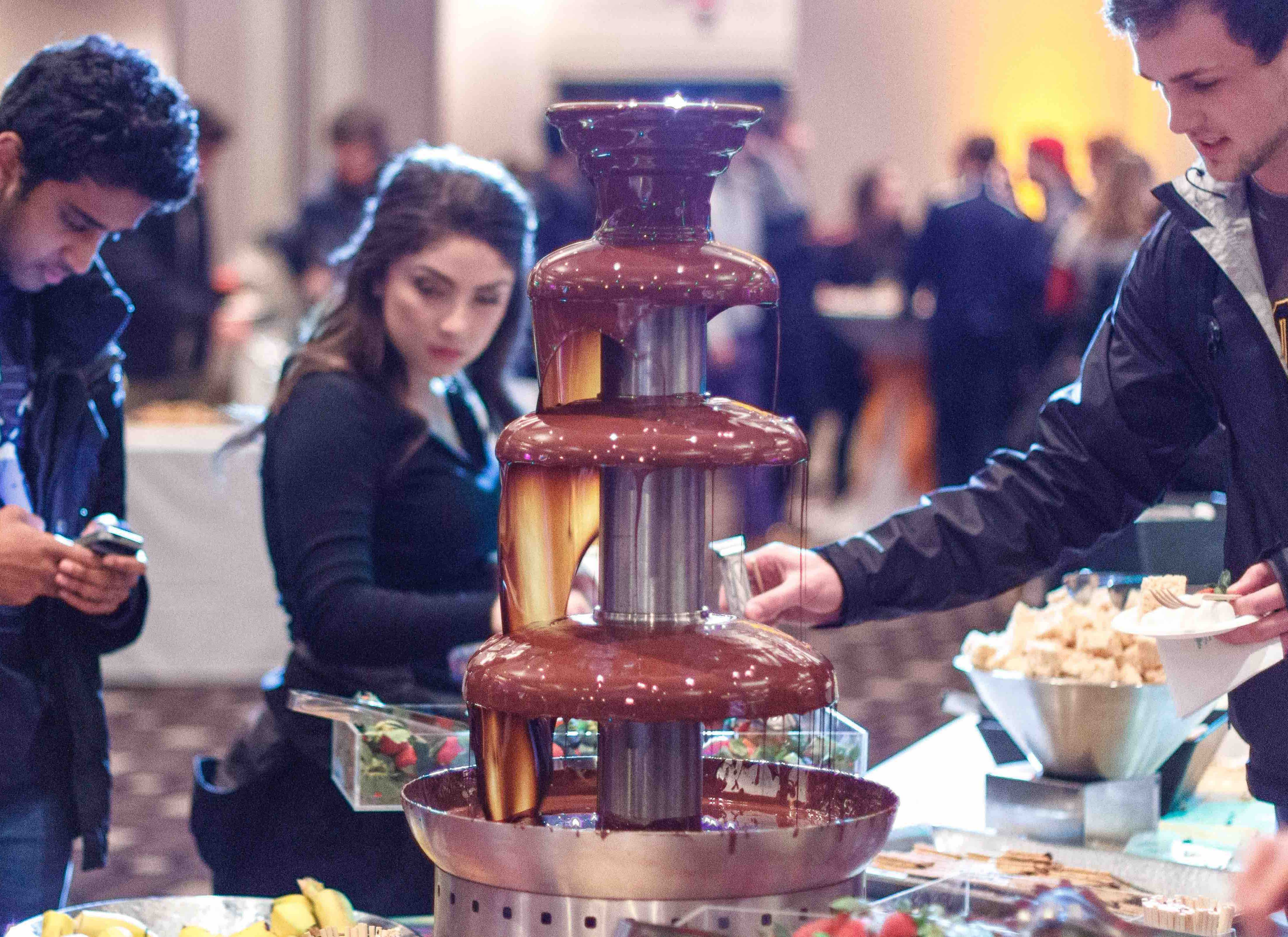 Chocolate fountains flowed in the AMU Feb 25th.