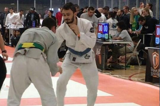 Aidan Flanagan competes at the Grappling Industries tournament in Chicago this weekend.