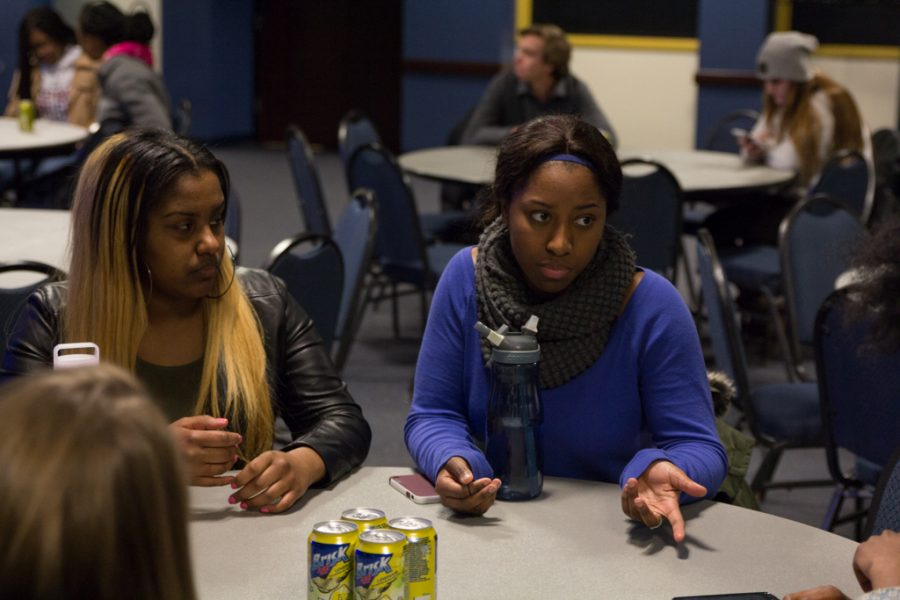 Students discuss issues at the events held during Black Love Week.