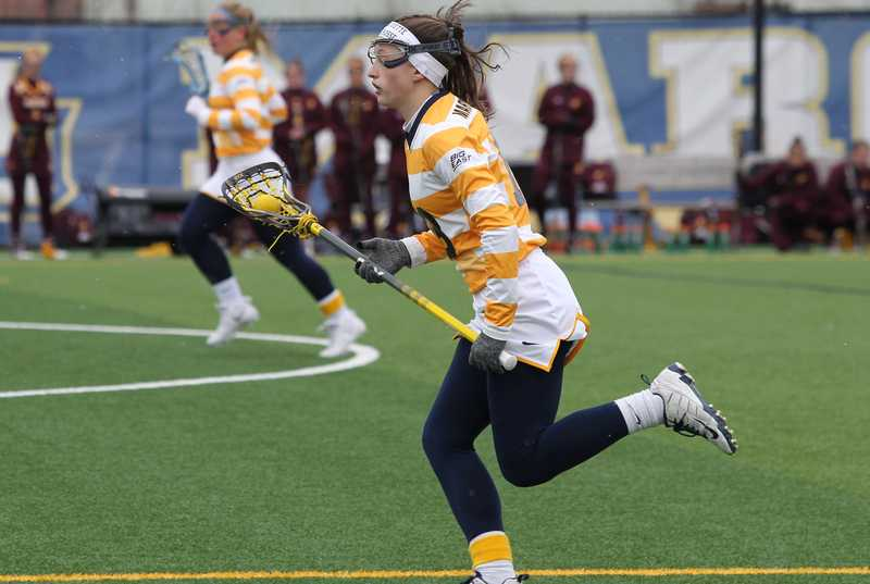 Julianna Shearer scored 13 goals in the three games over spring break.