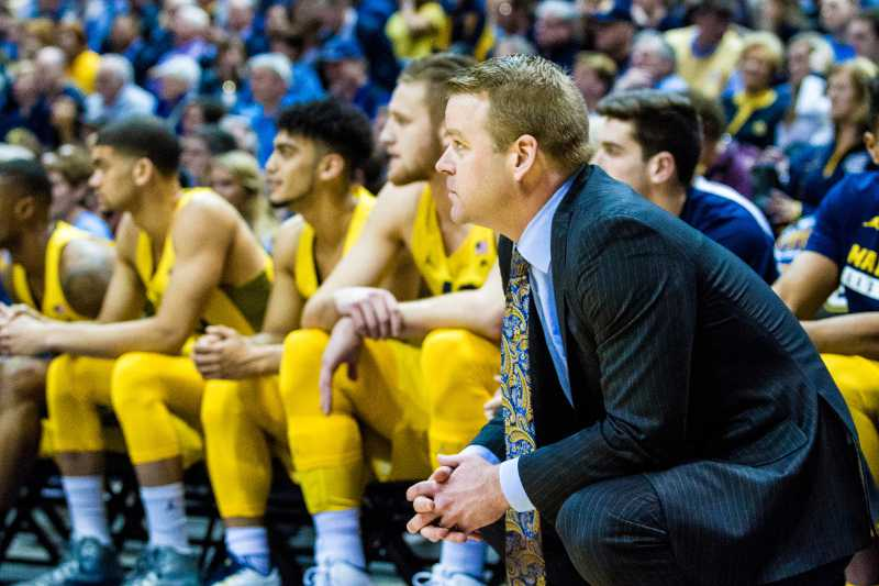Steve Wojciechowski (right) is in the NCAA Tournament as a head coach for the first time.