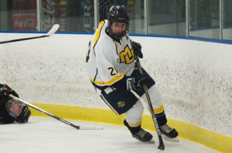 Hockey held to 3 goals in opening losses at DePaul