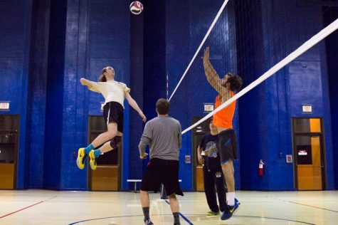 Ph.D. quest brings 34-year-old to club volleyball