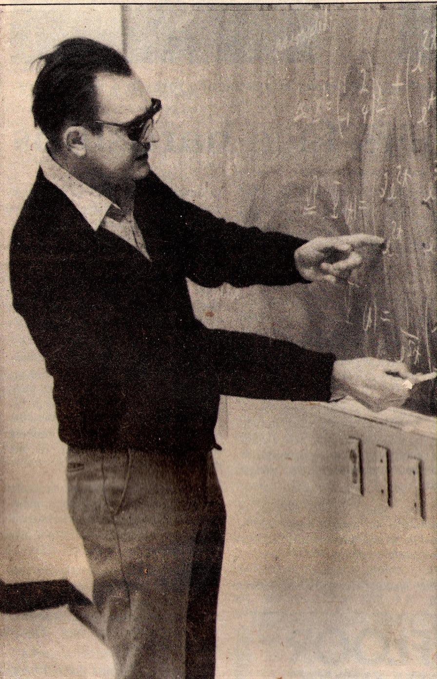 Thomas Andrew Bronikowski, a Marquette mathematics professor for 25 years, permanently lost his eyesight at age 47. Photo courtesy of Clara Janzen.