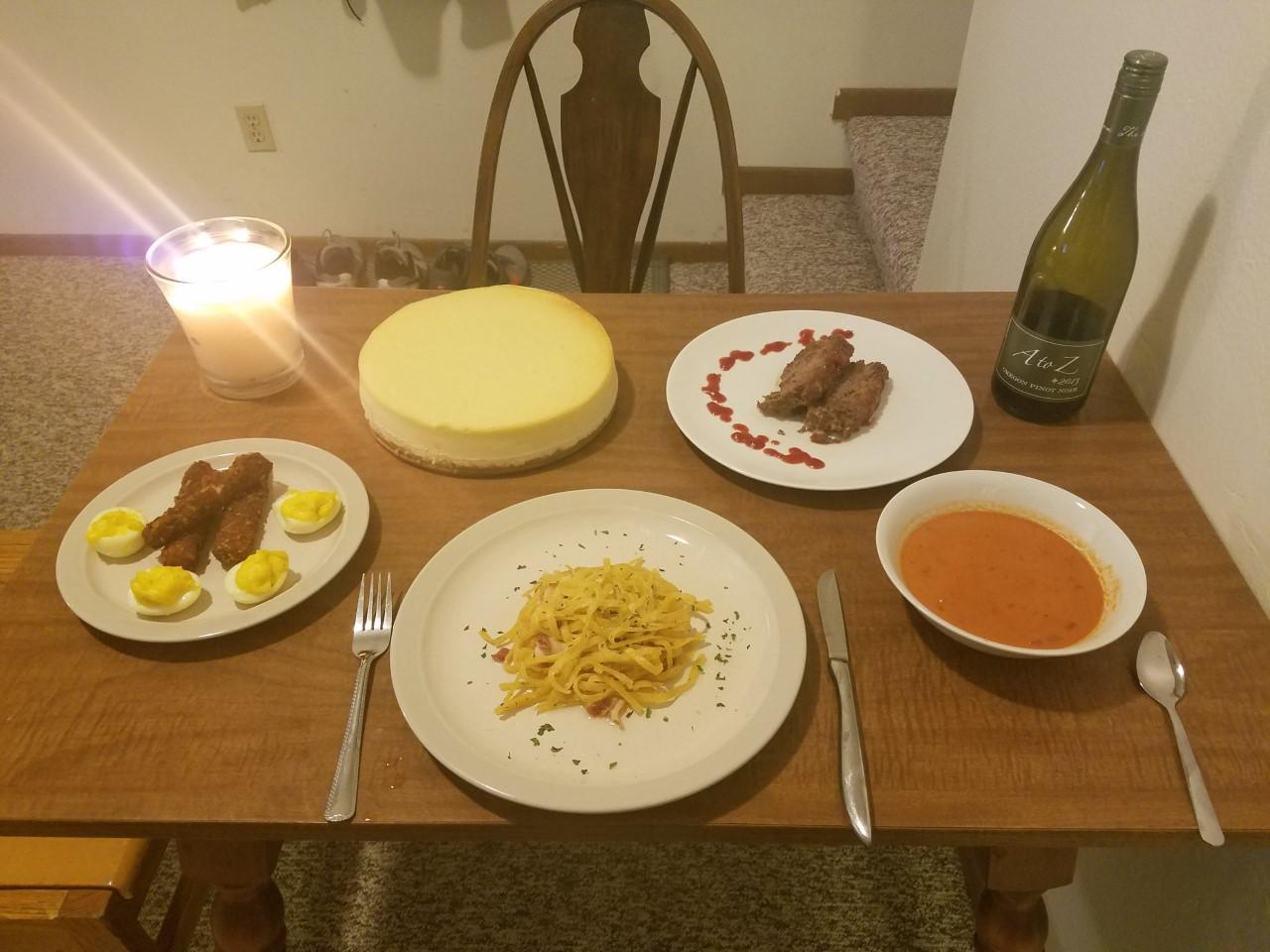 Tomato soup, mozzarella sticks, deviled eggs, cheesecake, meatloaf and pasta crafted from ordinary ingredients found at Walgreens.