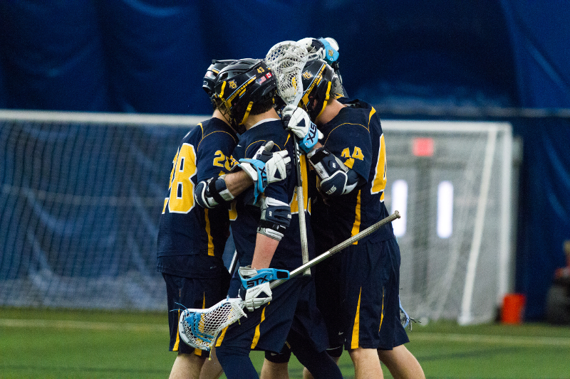 Men%27s+lacrosse+celebrates+a+goal%2C+something+they+haven%27t+done+frequently+in+second+halves.