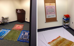Muslim prayer space tarnished