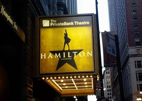 Popular rap-musical 'Hamilton' is playing at the PrivateBank Theatre in Chicago. The show is in high demand with planned performances almost every day throughout 2017. Photo courtesy of Francesco Fuentes.