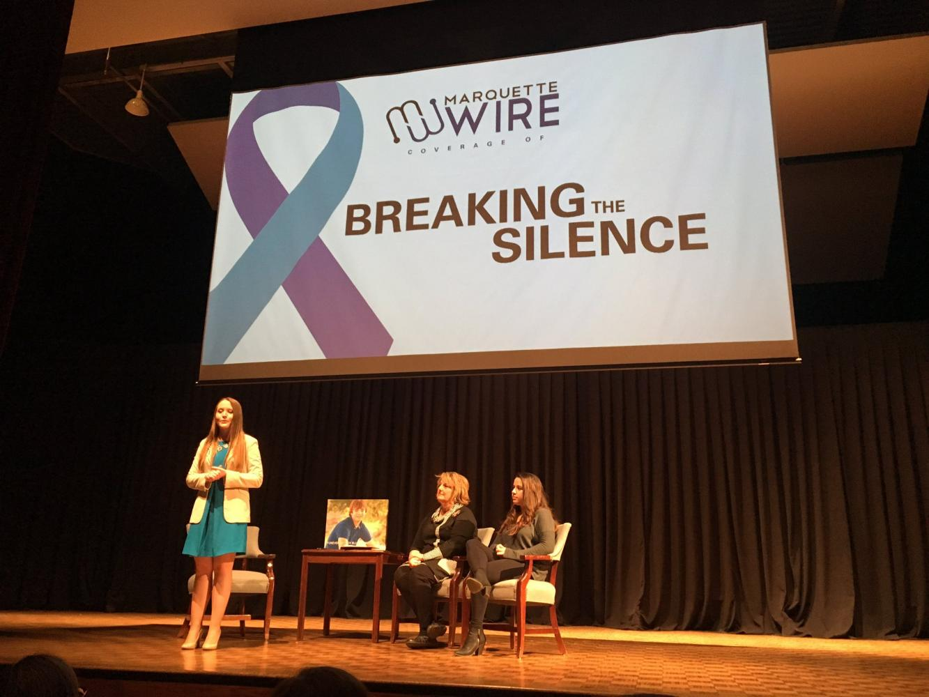The Marquette Wire's project about college-age suicide, Breaking the Silence, concluded Wednesday, May 3, with a live television town hall forum. Photo by McKenna Oxenden/mckenna.oxenden@marquette.edu
