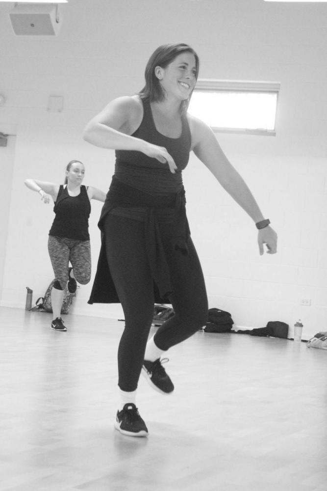 Gina Parenti teaches a hip hop class during the first Virtuosity Dance intensive. Photo via Facebook.