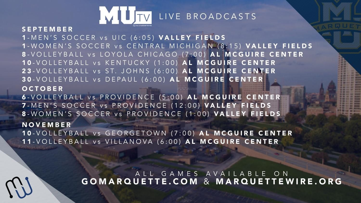Marquette+Wire+renews+partnership+with+athletics%2C+announces+fall+broadcast+schedule