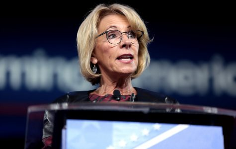 U.S. Secretary of Education, Betsy DeVos, speaking at the 2017 Conservative Political Action Conference.