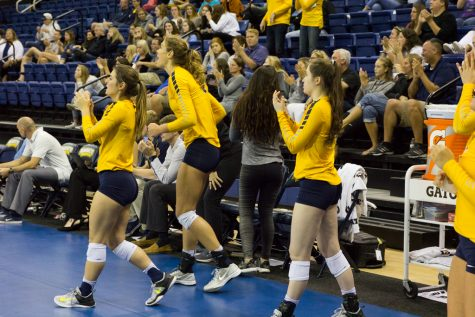 Volleyball sweeps rival Green Bay, former coach Franklin