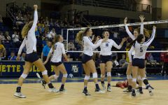 Volleyball rolls over Seton Hall, St. John's in straight sets