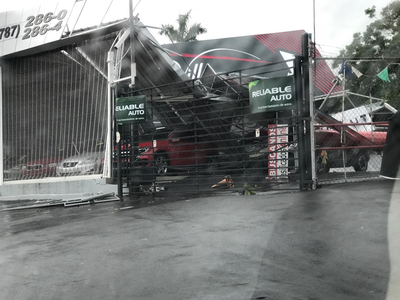 Photo courtesy of Ali De Luca Damage to an auto shop in Puerto Rico.
