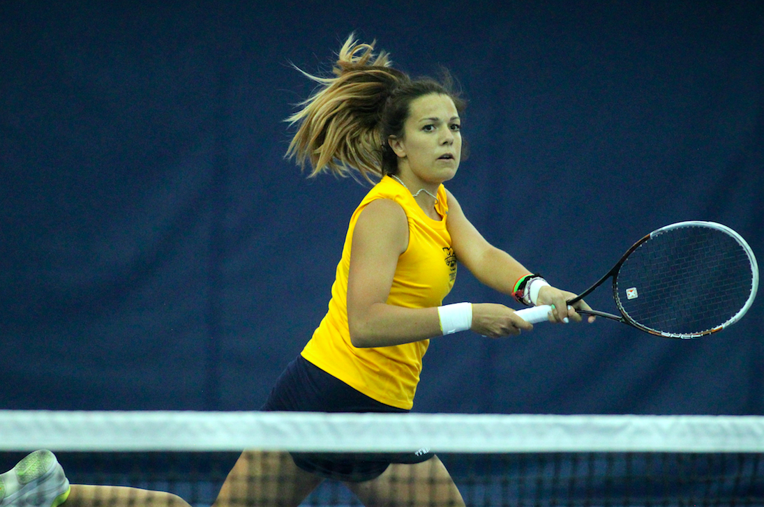Senior Paula Sanchez hopes to help women's tennis build on a 15-8 2016 campaign.