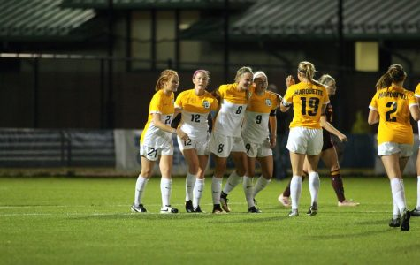 Sprecher's first career goal is deciding factor in win over Central Michigan