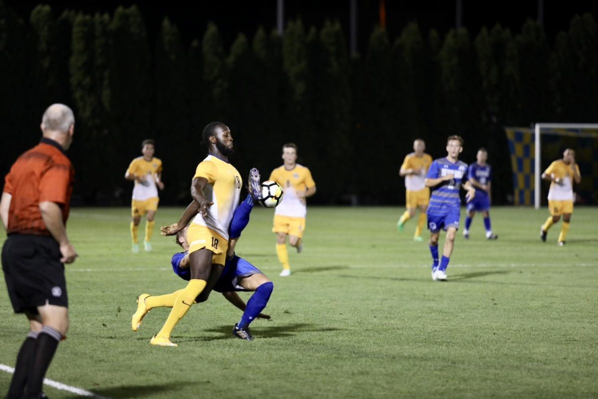 Jason Davis scored his first career goal against Providence on Saturday in the 64th minute to tie the game for Marquette. The match ended in a 2-2 draw.