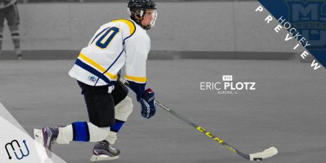 Senior Eric Plotz is one of the experienced players at the helm of club hockey.