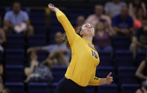 Sophomore outside hitter Allie Barber is averaging nearly five kills per set this year.
