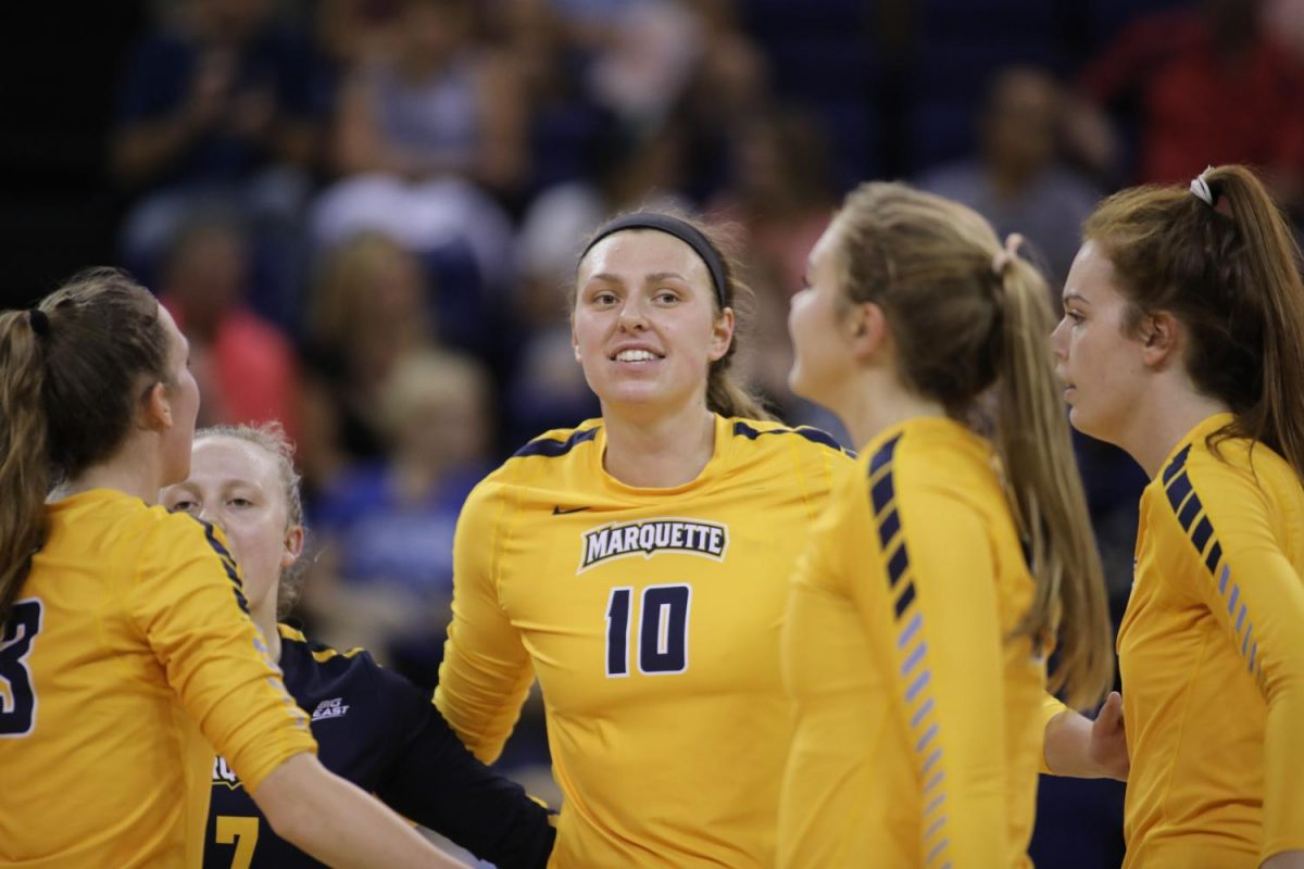 Allie+Barber+smashed+21+kills+in+Marquette%27s+three-set+win+over+No.+12+Creighton.