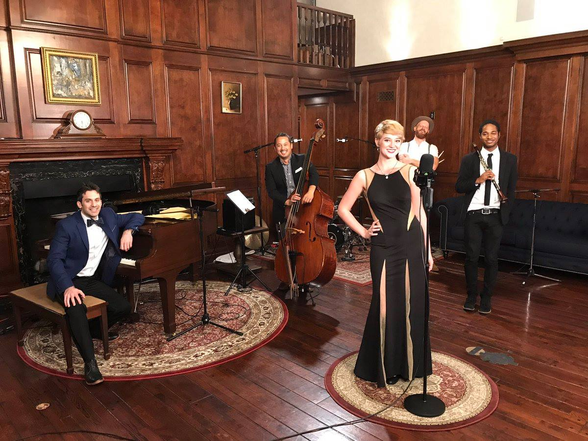 Postmodern Jukebox with singer Hannah Gill recording their cover of