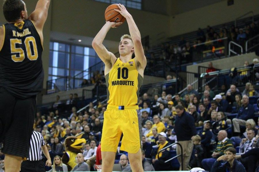 Sam+Hauser+had+27+points+and+10+rebounds+to+guide+Marquette+to+a+78-63+victory+over+UWM.