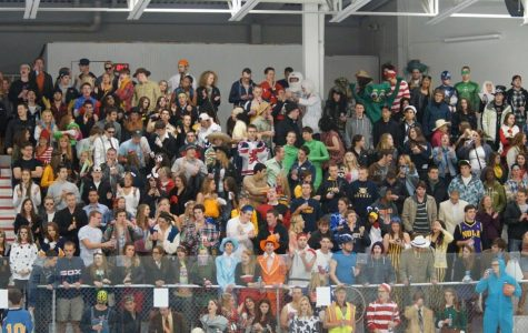 Men's hockey, spurred on by Halloween atmosphere, wins home game vs. UW-Madison