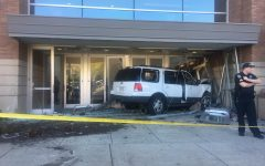 Car rams into Al McGuire Center