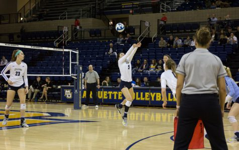 Volleyball splits weekend road series against Villanova, Georgetown