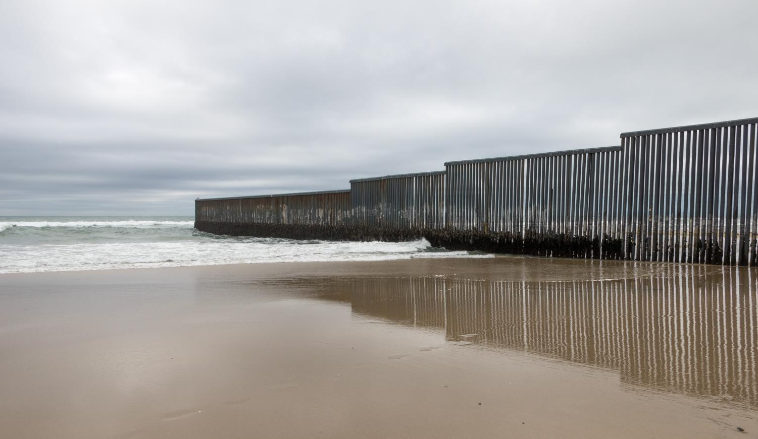 The Mexico- United States border wall in Tijuana, Mexico.