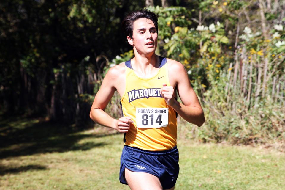 Ryan Burd has gone from not making the team as a freshman walk-on to being one of the team's best runners. (Photo courtesy of Marquette Athletics.)