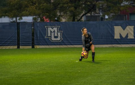 Maddy Henry made eight saves in a 3-0 loss to Georgetown Thursday afternoon.