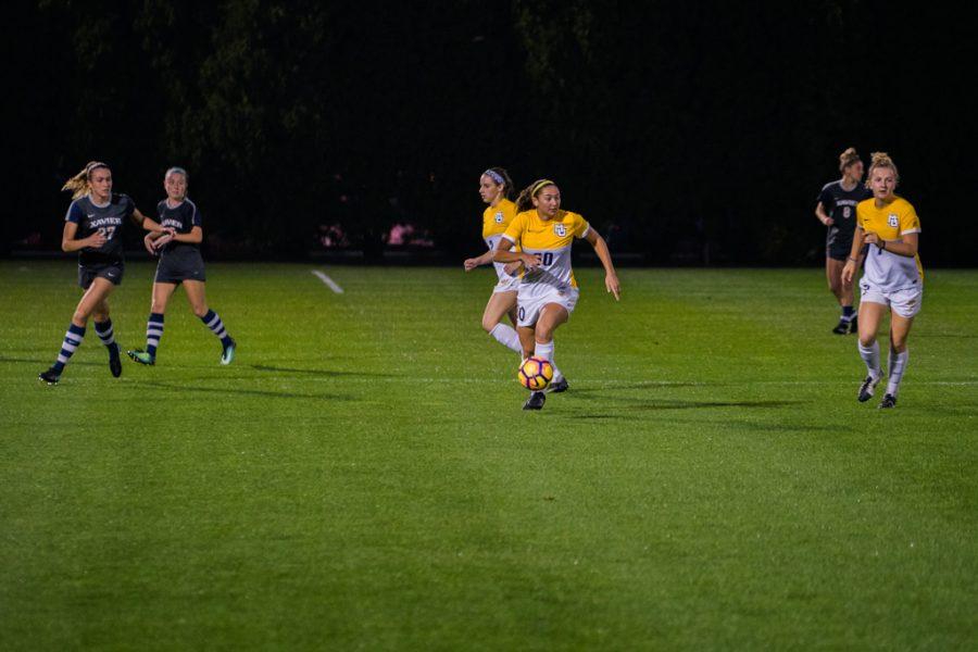 Dramatic overtime goal pushes women's soccer past Xavier