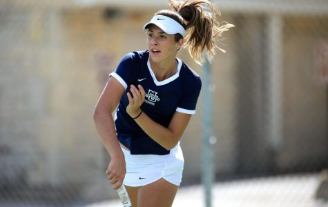 Freshman Popovic still finding ways to fit in on women's tennis