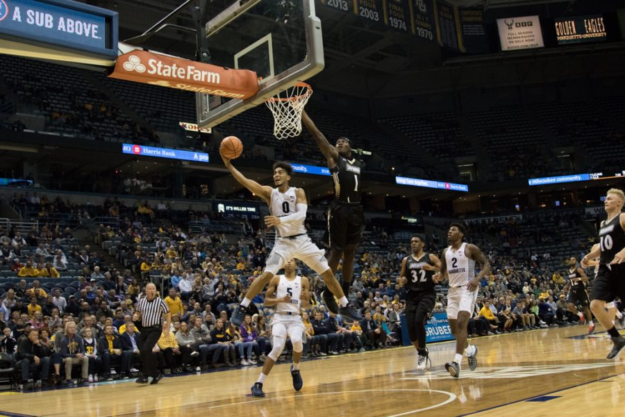 Markus Howard goes up for a layup in last weekends exhibition game against Lindenwood.