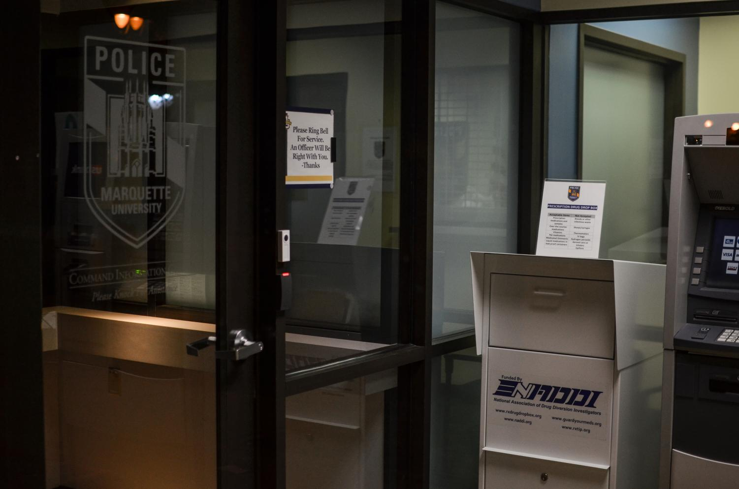 MUPD installed a prescription drug drop box outside their office.