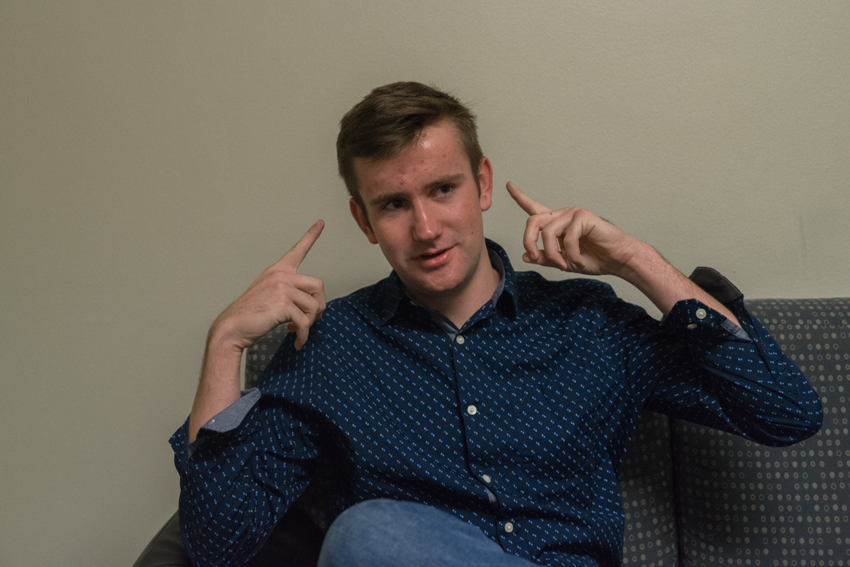 Freshman Kevin O'Finn recently launched his company Headphones+, which features bluetooth earbuds that are made to help avid night runners avoid being hit by cars due to low visibility.