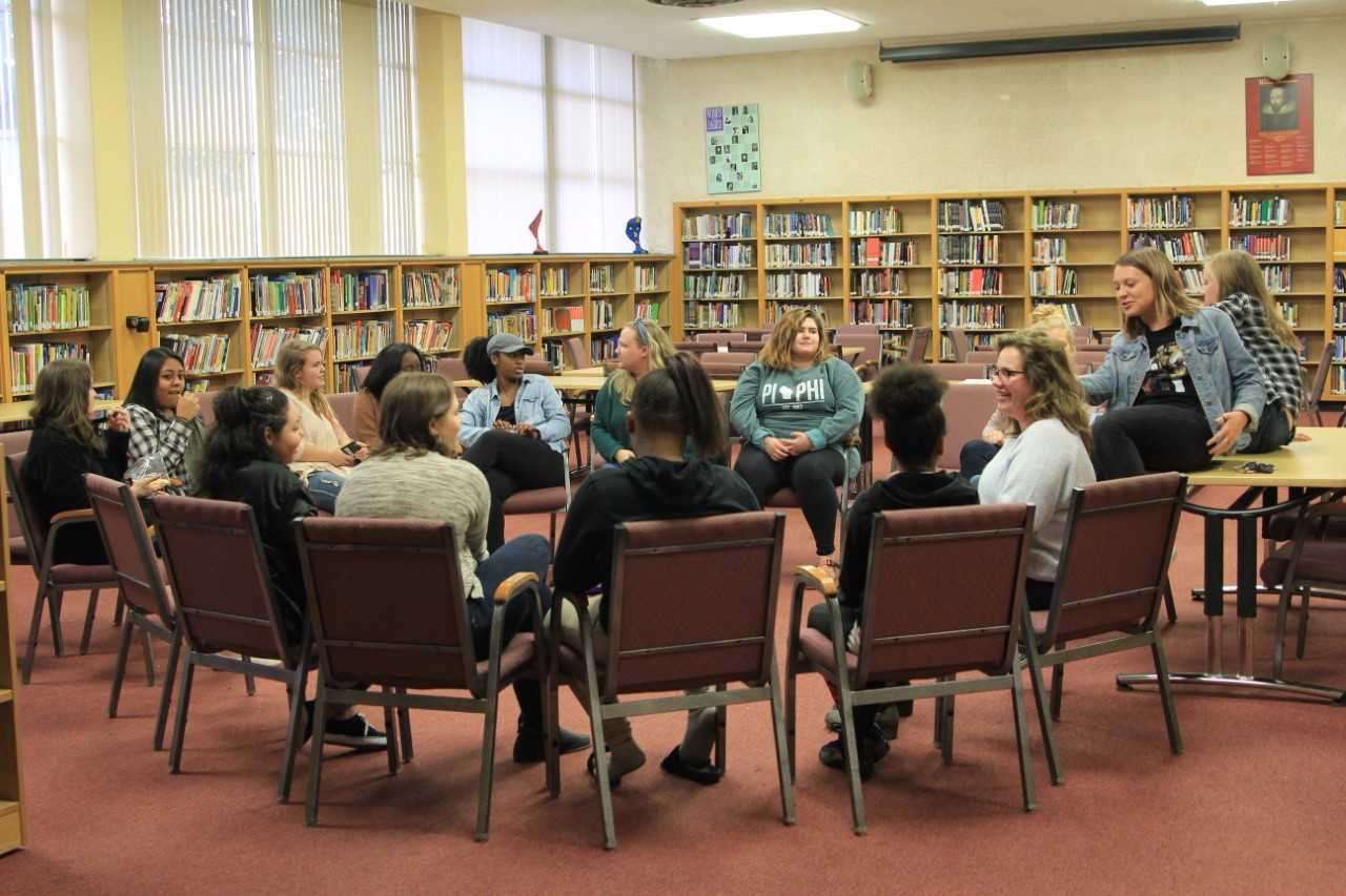 """""""We focus on empowerment,"""" Jenna Borowski, executive director of the Marquette WYSE branch and senior in the College of Communication, said. """"We try not to tell the girls what to do, but rather give them a variety of options. They can choose what works best for them."""""""