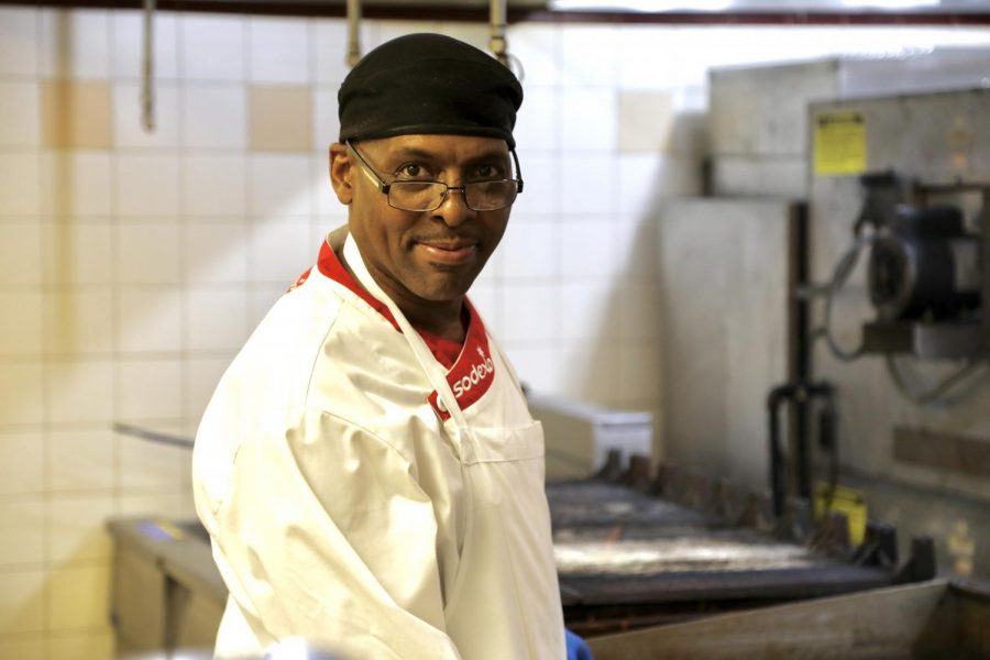 Dee Thornton is known for his dining hall inventions and his conversational personality.