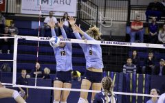 Volleyball clinches tournament spot with wins over Georgetown, Villanova