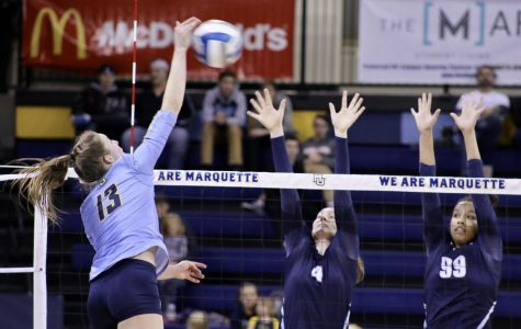 Haak, Speckman lead volleyball past Butler to finals of BIG EAST Tournament