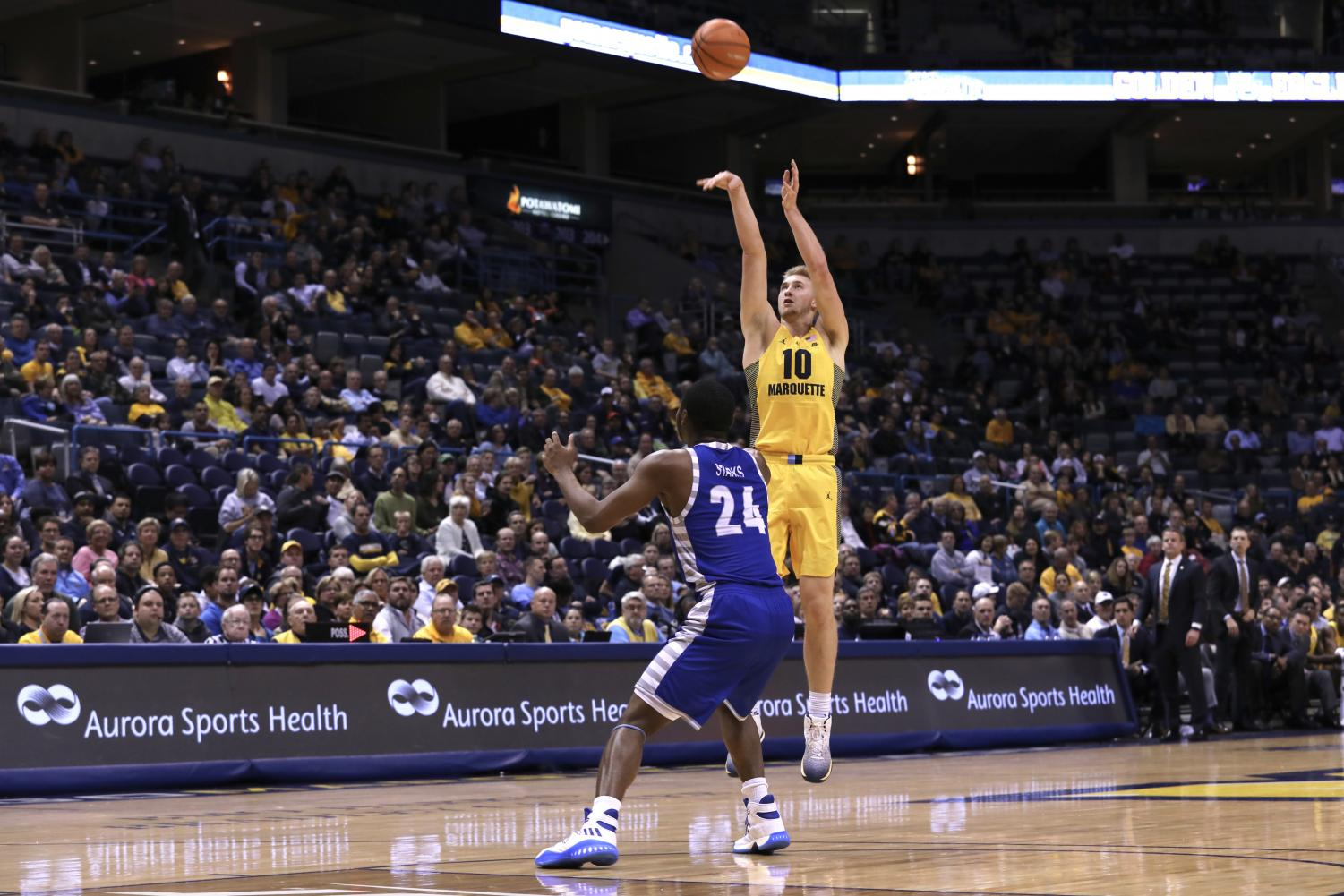 Sam Hauser had a career-high 30 point performance against Eastern Illinois.