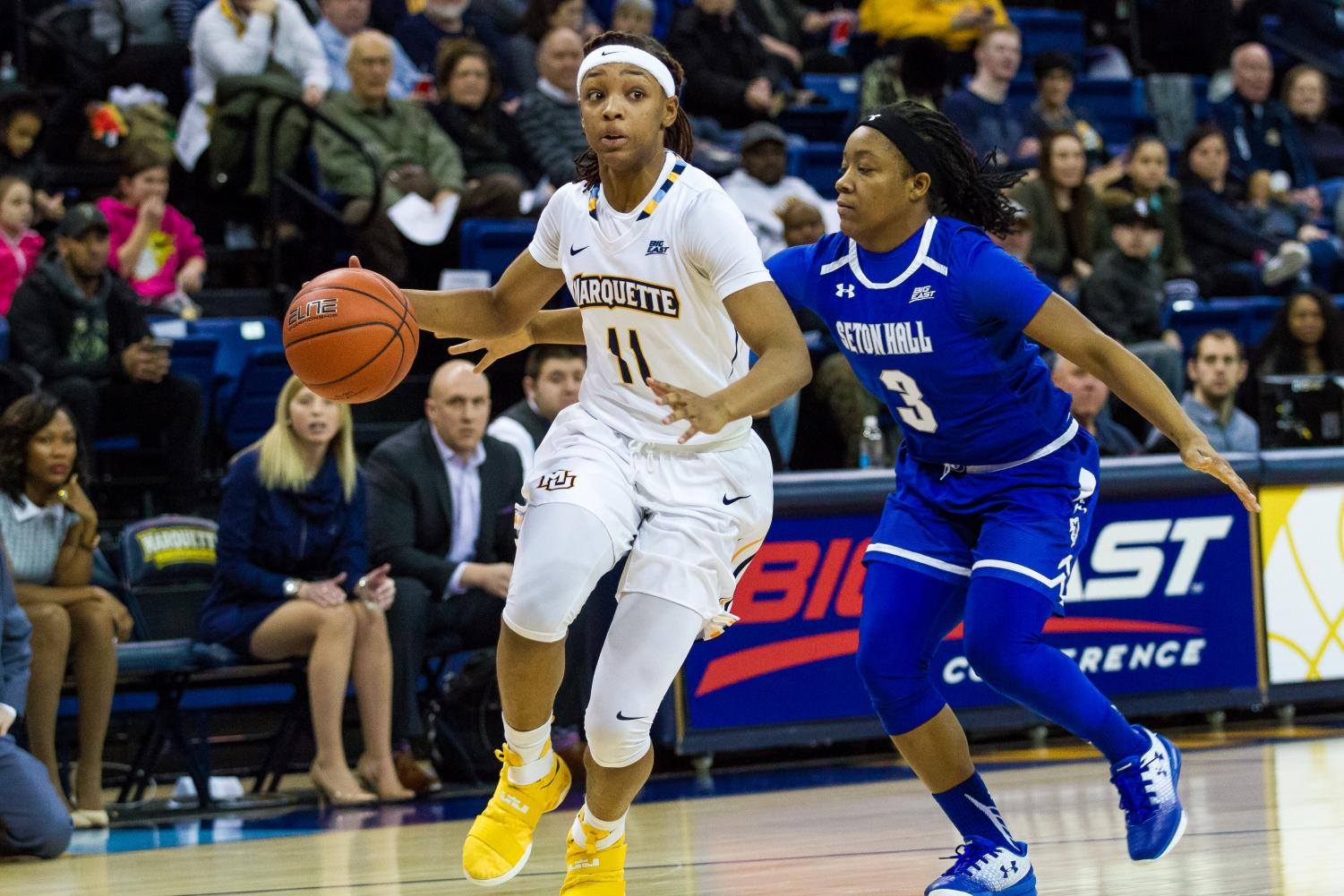 Allazia Blockton scored just eight points against DePaul in the BIG EAST Championship game loss, the worst loss in the Carolyn Kieger era.