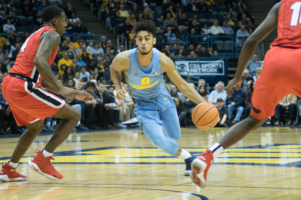 Sophomore Markus Howard finished with 29 points in Marquette's loss to Georgia.