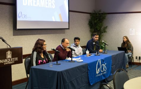 A group of undocumented students, their peers and supporters shared their stories and messages of support at an event held last Thursday called Cookies and Conversation. The event was sponsored by local and campus organizations, including Catholic Relief Services, College Democrats, Inner Varsity, Center for Peacemaking and J.U.S.T.I.C.E.