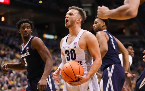 Despite Andrew Rowsey's 31 points, Marquette could not defeat the No. 6 Xavier Musketeers Wednesday night at the BMO Harris Bradley Center. (Photo courtesy: Maggie Bean/Marquette Athletics)