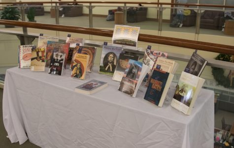 Books by Native American authors were displayed in Raynor Memorial Library in honor of Native American Heritage Month.