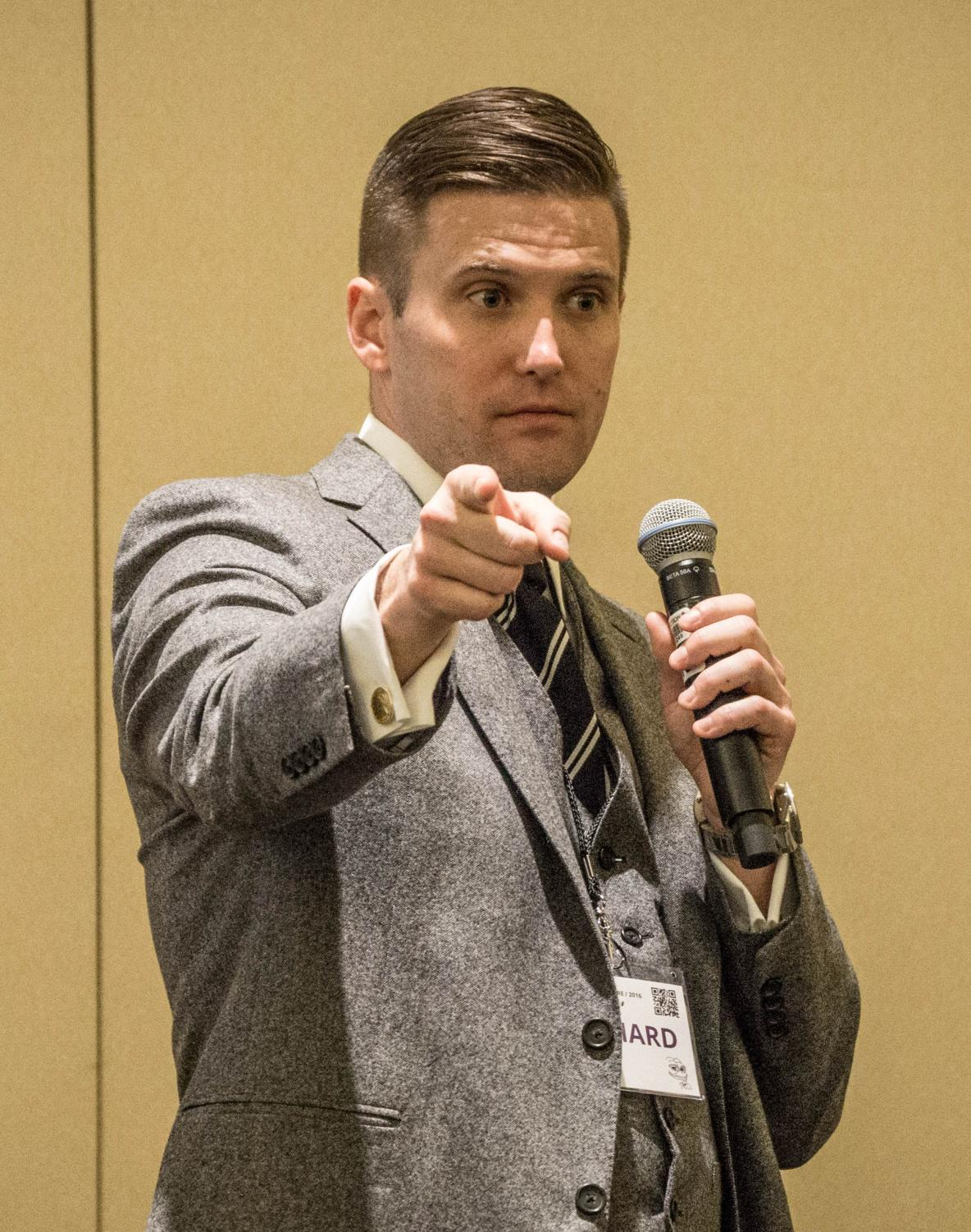 White nationalist Richard Spencer delivers a speech in 2016.