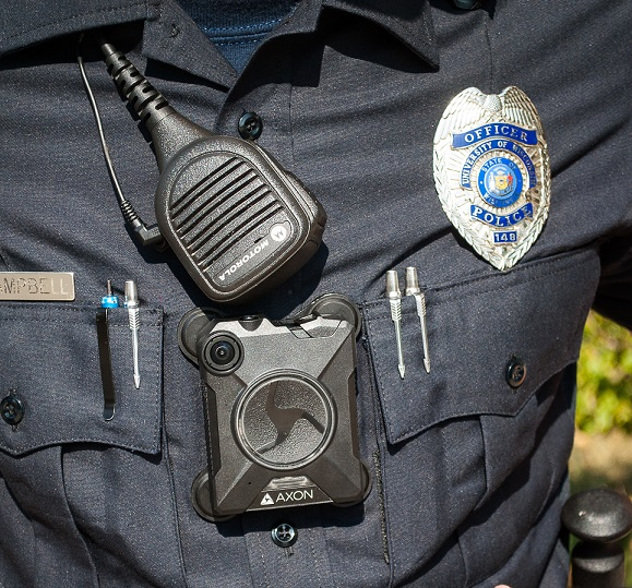 The University of Wisconsin, Milwaukee Police Department implemented Axon body cameras in September. Courtesy of UWMPD.